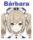 personajes de nivel B - Barbara