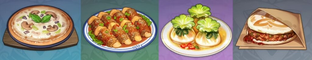 Recetas de cocina de GenShin IMPACT