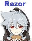 personajes de nivel S Razor